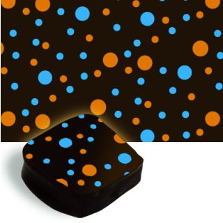 Blue and Orange Dots Transfer Sheet